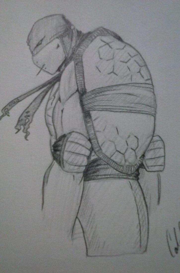 Raphael TMNT 2014 sketch by NitraBult