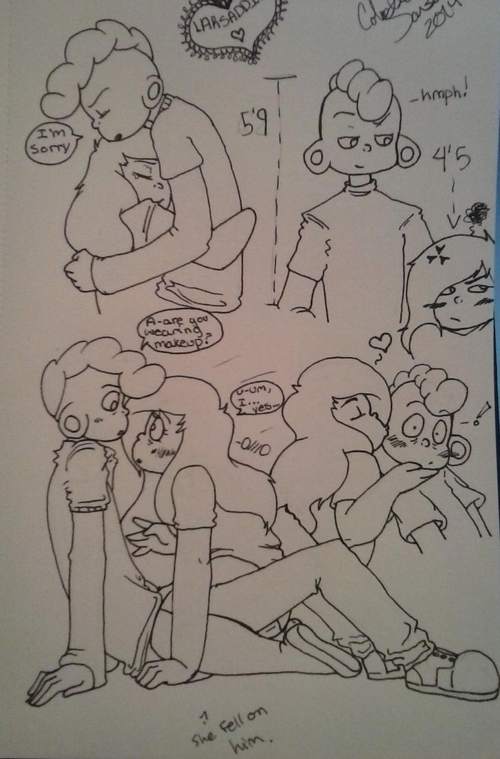Larsaddie doodles by NitraBult
