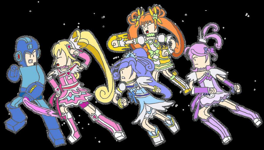 Doki Doki Precure vs Megaman Classic by isaacyeap