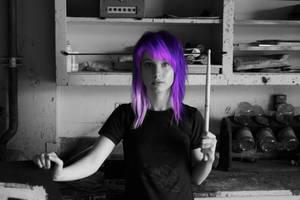 Purple Hayley by JustRockAndRose