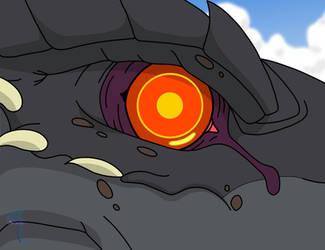 Godzilla's Eye ver. 2 by TricksterBlueJay