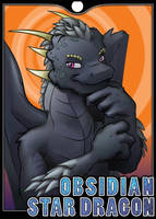 Badge - Obsidian Dragon by Kraden
