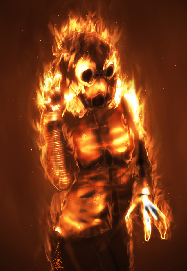 Erika, fire elemental by Kraden on DeviantArt