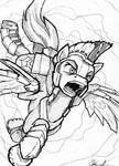 Pegasus in flight by Kraden