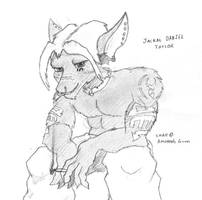 Sketch - Jackal by Kraden