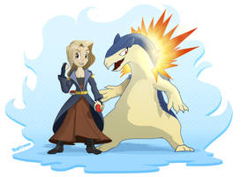 Poketrainer - Kiri and Typhlosion by Kraden