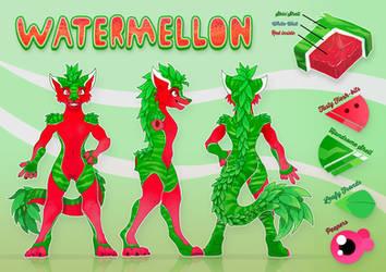 Ref-Sheet - Watermellon by Kraden