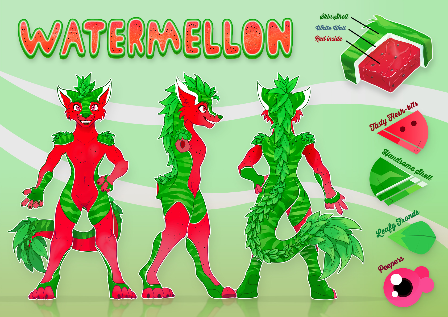 Ref-Sheet - Watermellon by Kraden