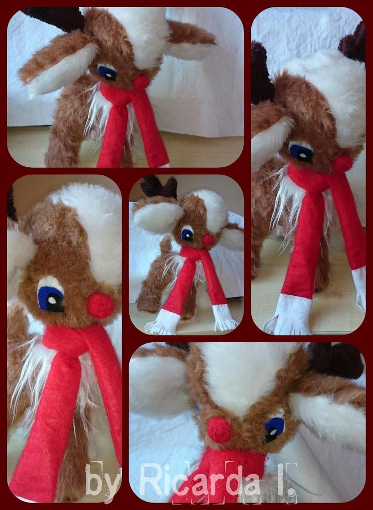 Rentier - Reindeer - Selfmade plush by MoondragonEismond