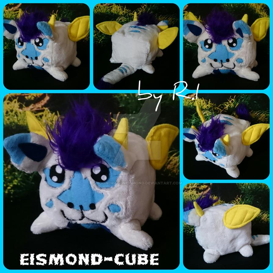 Eismond-Cube plush Handmade by MoondragonEismond