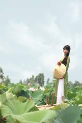 Hetalia_Vietnam_Pink lotus by SilverPhoenixVN