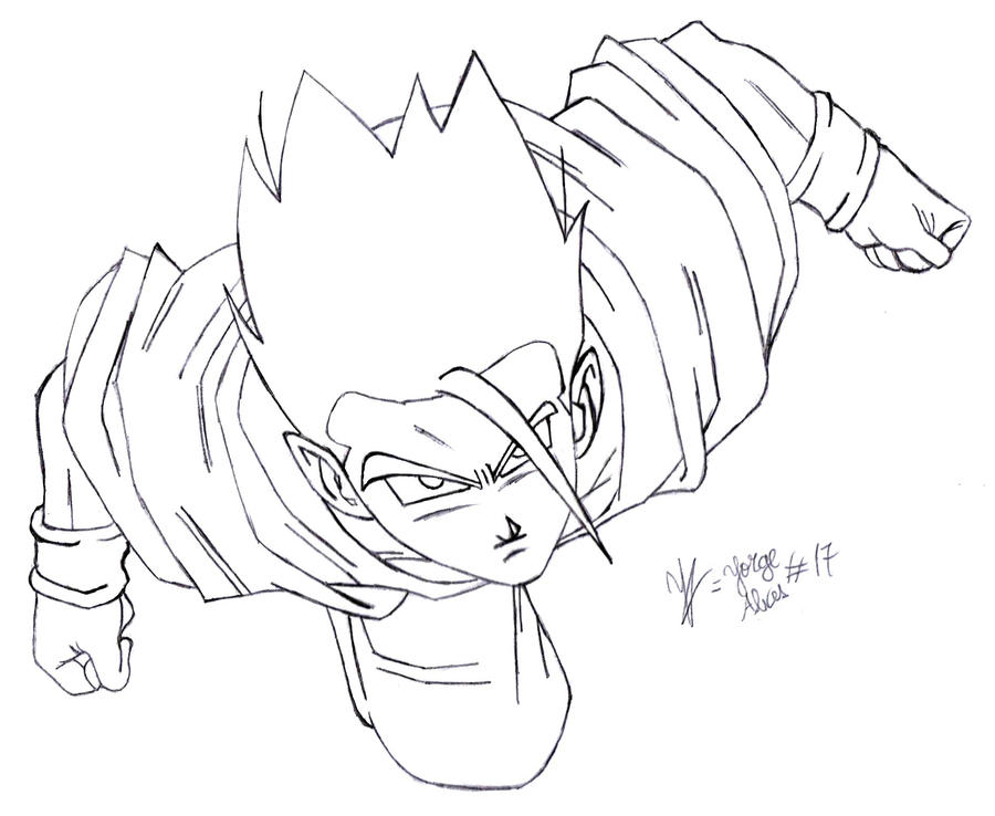 Kid Gohan Ss Free Coloring Pages