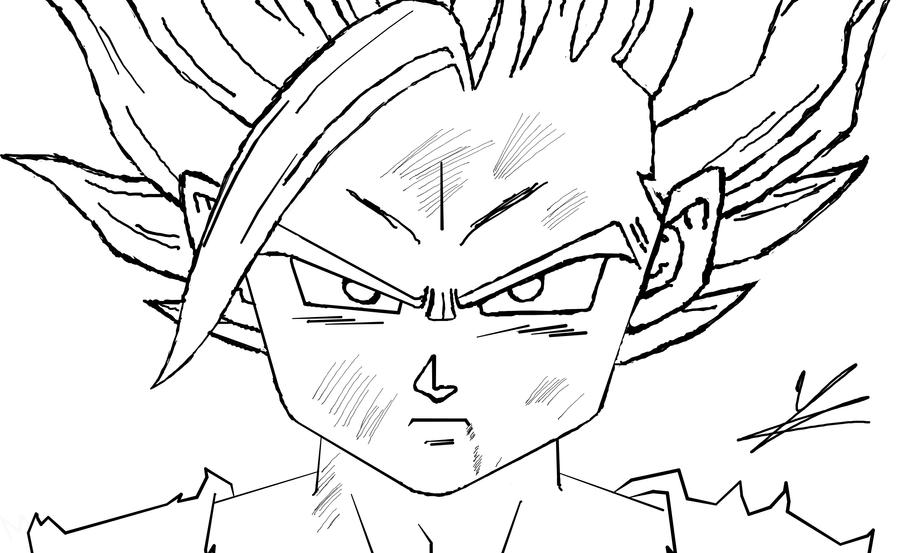 Dibujos Para Colorear De Dragon Ball Z Gohan Ssj2 Ideas: Son Gohan SSJ2 Lineart By Jorgee-alveS17 On DeviantArt