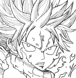Angry Natsu Lineart