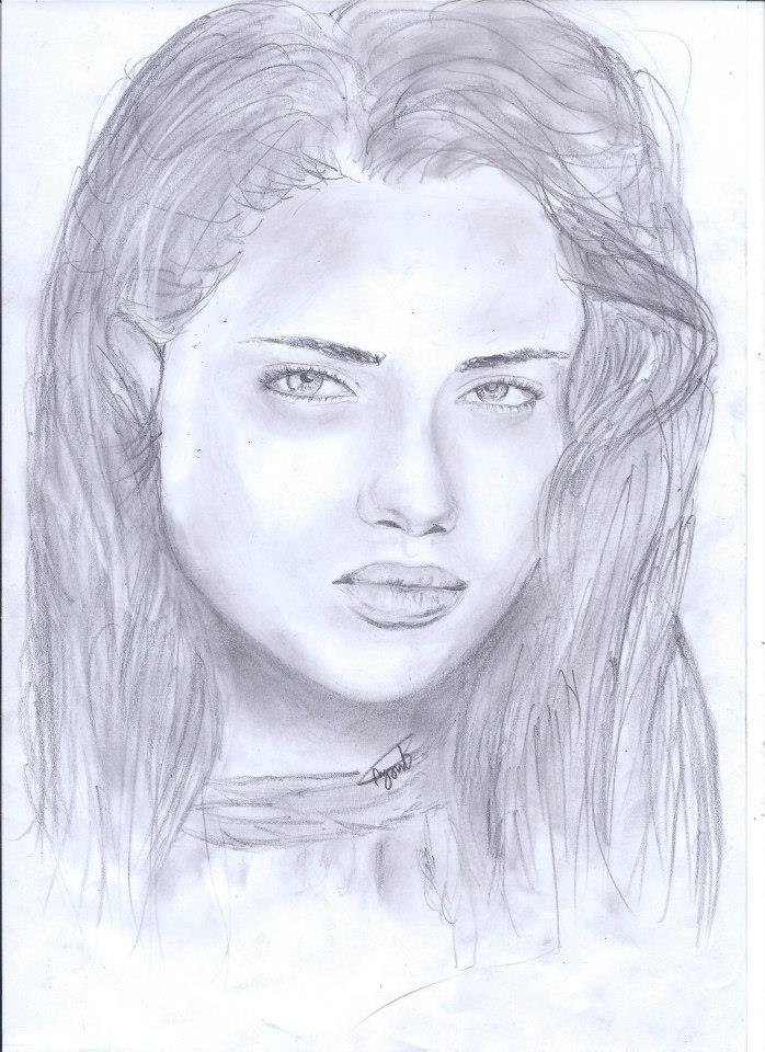 Pencil sketch of girl face the image for Girl drawings in pencil