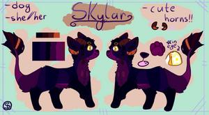 skylar-- ref sheet comm by muttpilot