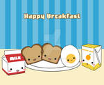Happy Breakfast Food