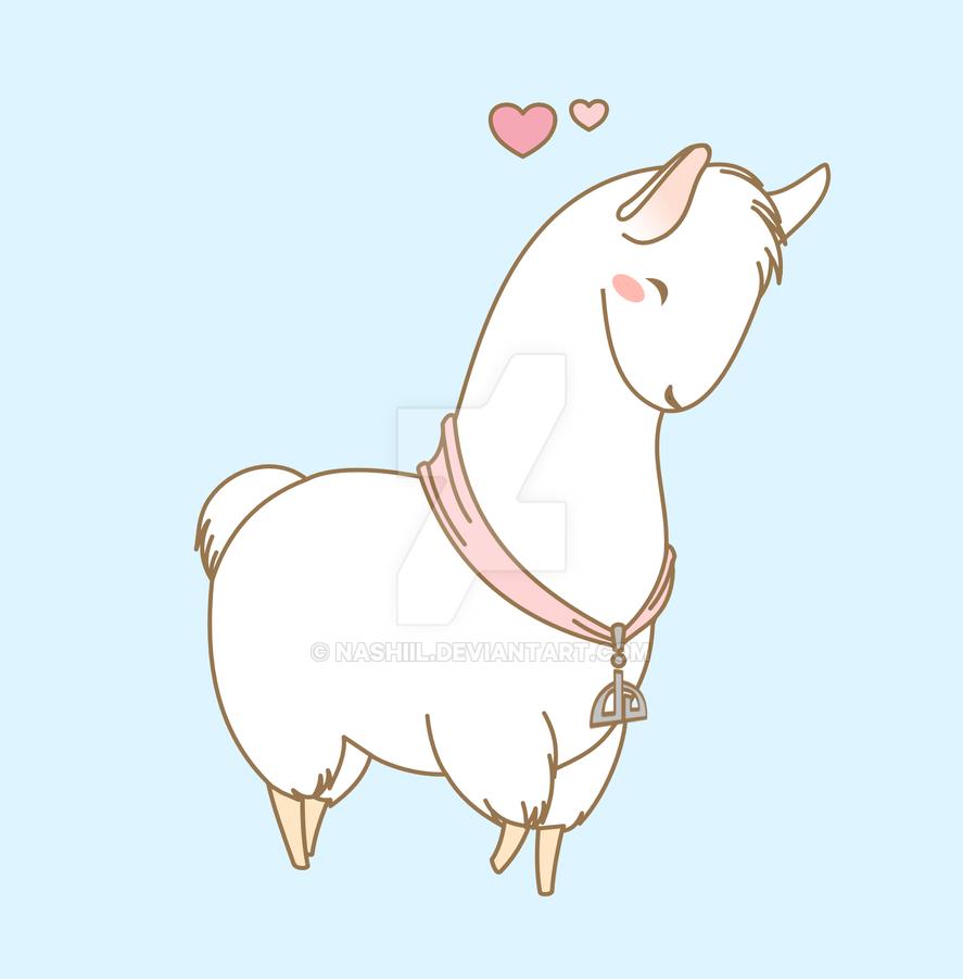 how to draw cute alpaca