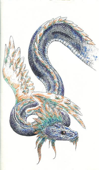 Quetzacoatl by Nashiil