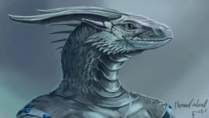 Northern female dragonoid (1.5h speedpaint)