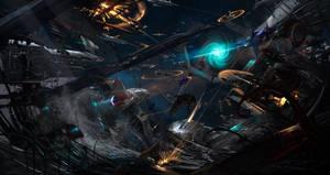 Orbital battle (commission)