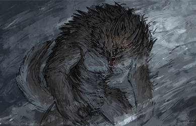Werewolf sketch by ThemeFinland