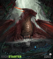Red dragon (Kickstarter alternative card art) by ThemeFinland