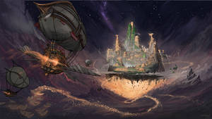 Approaching the golden city [commission]
