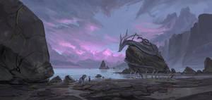 Sunset of a sea serpent