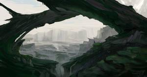 Broken land before Glacialicia