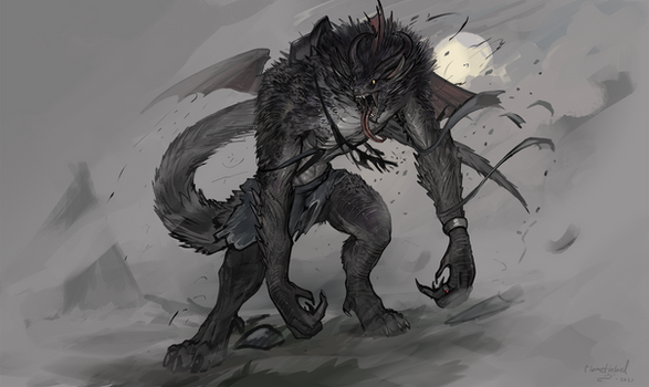 Dragonborn Lycanthrope