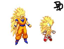 Custom Super Sonic 3 Sprite by Destro-the-Dragon