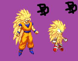 Custom Super Sonic 3 Sprite by Des-the-Dragon
