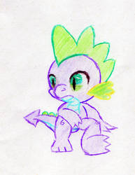 Spike the Dragon Drawing by Des-the-Dragon