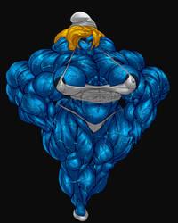 BLUE SMURFETTE HULK by B9TRIBECA