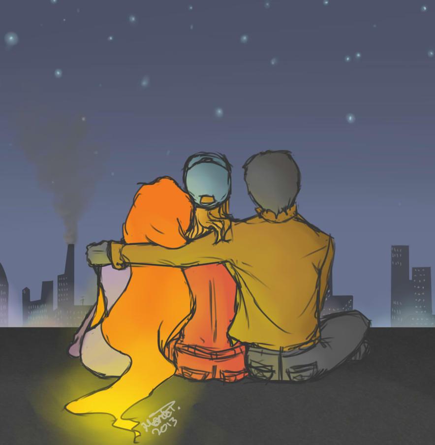RHATO: Rooftop Cuddle by scribbledit