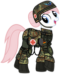 Nurse Redheart is ready for battle!