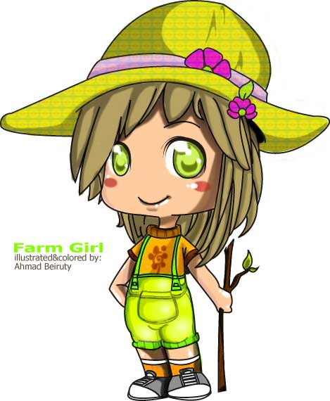 farmer girl by Akkurio on DeviantArt