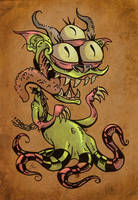 Monster on the Loose by skullberries