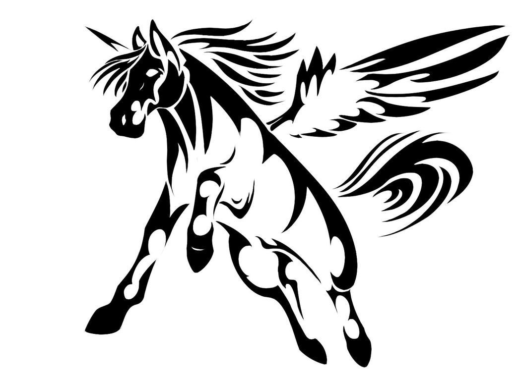 Tribal Unicorn Pegasus By Wolfhound56200 On DeviantArt