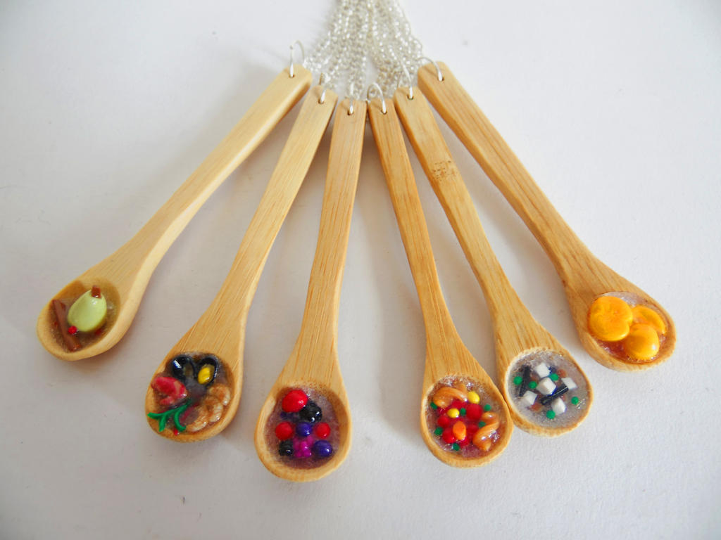 Bamboo Spoon Necklaces by KleeNoodle