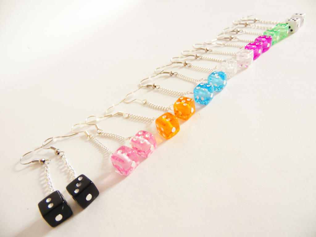 Retro Dice Dangles by KleeNoodle