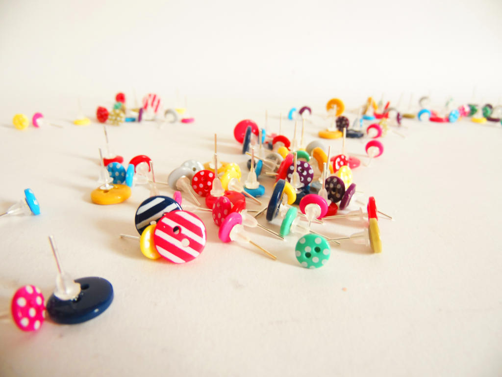 Mini Button Studs by KleeNoodle