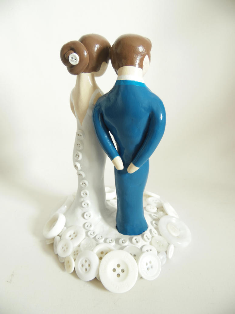 Buttons Wedding Topper by KleeNoodle
