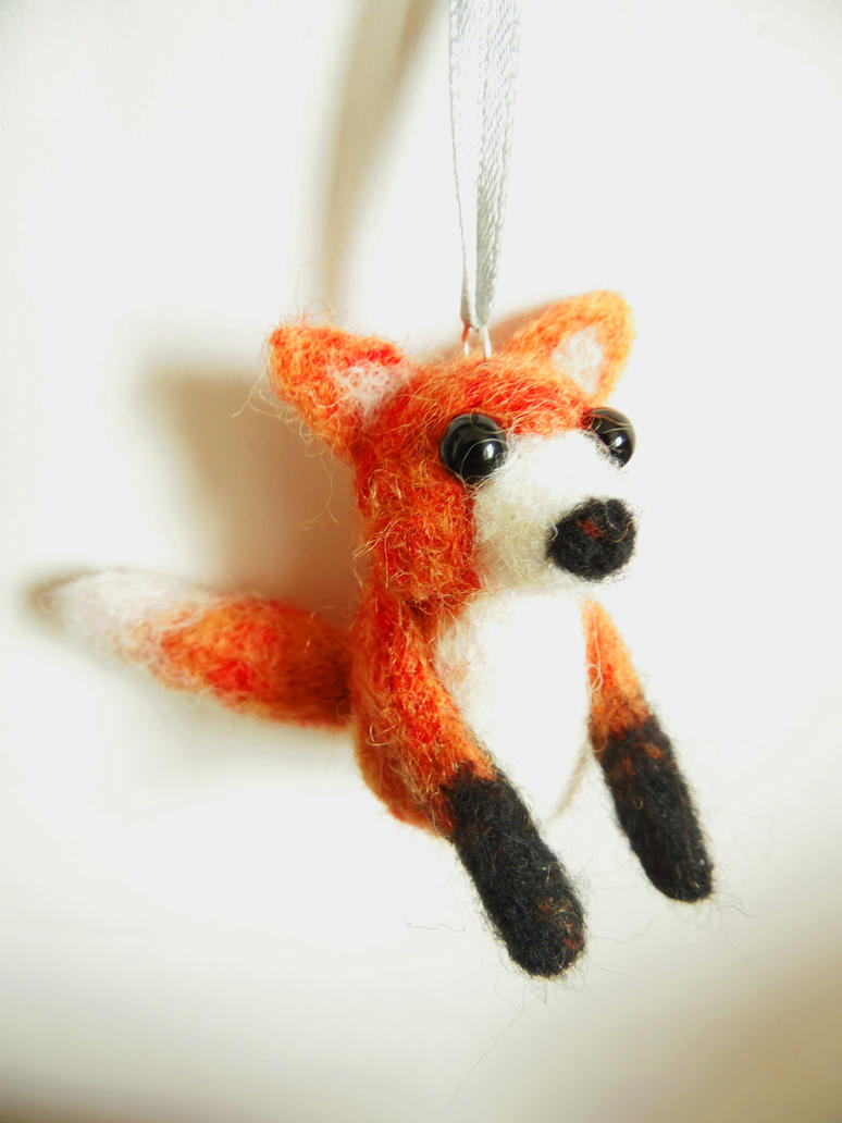 Needle Felted Fox by KleeNoodle