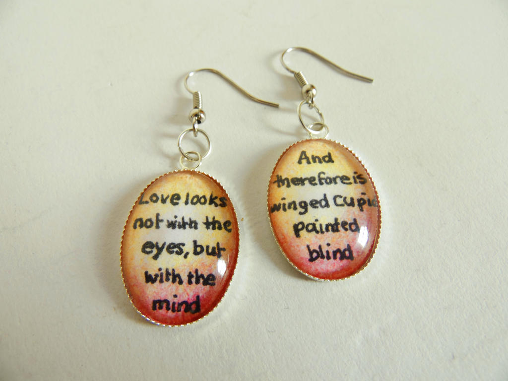 Shakespeare Quote Earrings by KleeNoodle