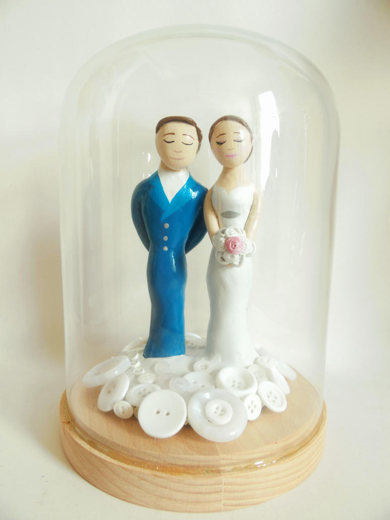 buttons wedding topper by kleenoodle on deviantart