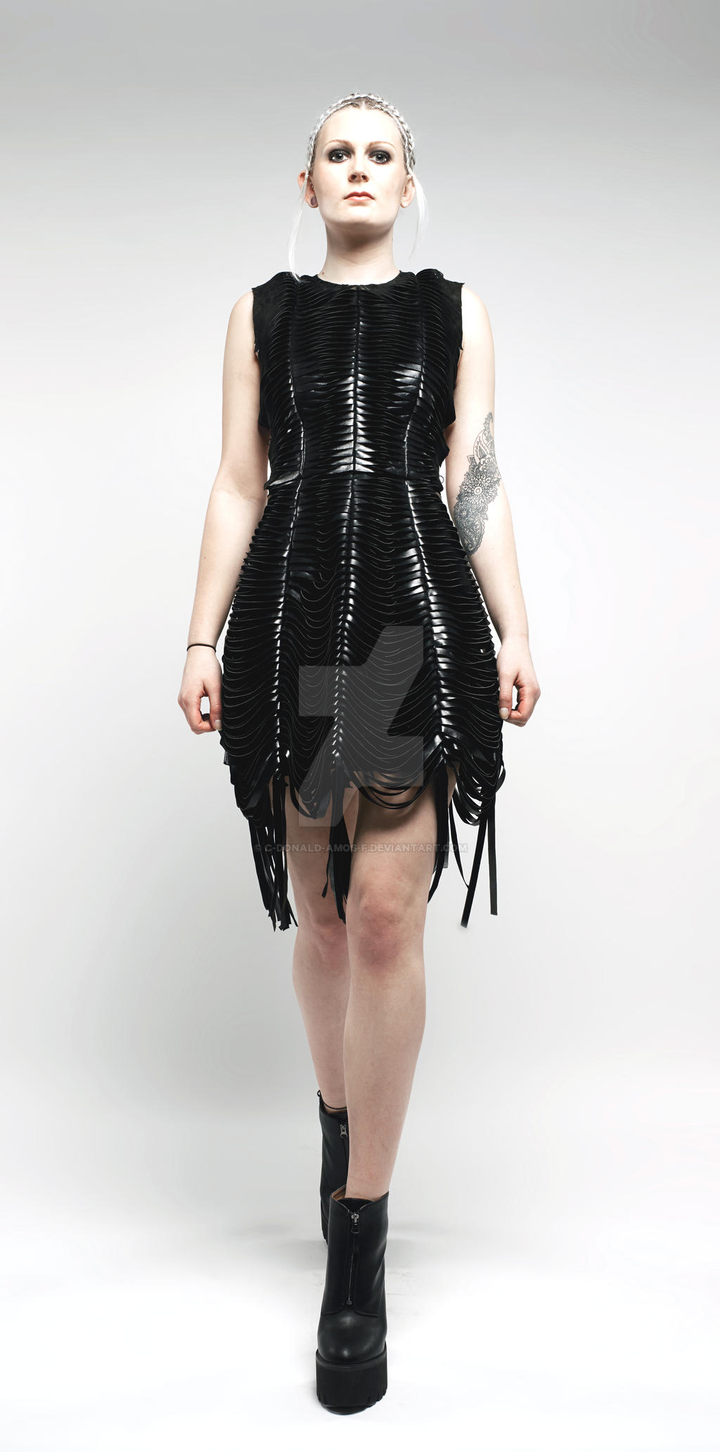 Braided Leather Strap Dress Photoshoot by C-Donald-Amos-F