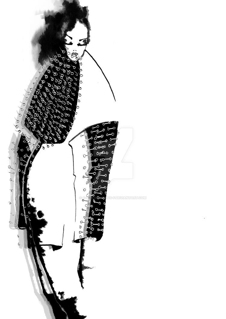 Ink Fashion Illustration by C-Donald-Amos-F