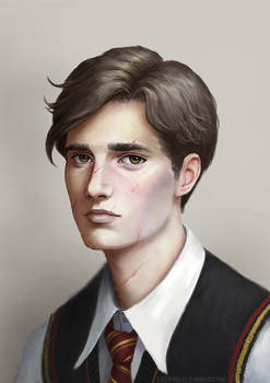 Young Remus Lupin fanart by Lasthielli